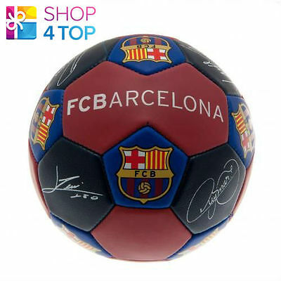 Fc Barcelona Nuskin Size 3 Ball 31 Panel Official Football Soccer Club Team New
