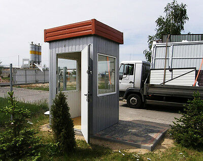Security hut / gatehouse - custom made, example price for 1,5x1,5m unit