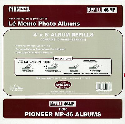 Pioneer MP-46 4x6 Photo Album Burgundy Same Shipping Any Qty