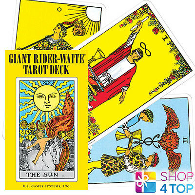 Giant Rider Waite Tarot Deck Cards Esoteric Big Size Us Games Systems New