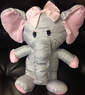 "Vintage Puffalump Elephant Potpourri Press 16"" With Bow Rare"
