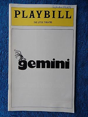 Gemini - Little Theatre Playbill - September 1977 - Danny Aiello - Reed Birney