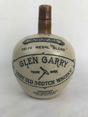 GLEN GARRY Old Highland Whiskey STONEWARE WHISKEY JUG Glasgow bottle