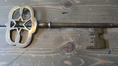 Antique Brass Skeleton Key 9 x 4 inches