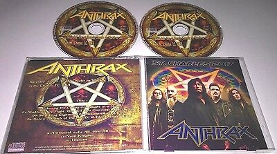 Anthrax -  Live at St. Charles, IL, USA  2017 CD , slayer, megadeth, w.a.s.p.