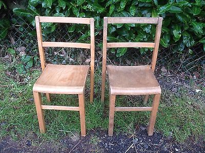 Vintage Wooden School Chairs 2