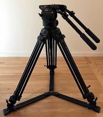Manfrotto 510 Art. 3147 fluid head with 515mvb aluminum tripod legs & bag