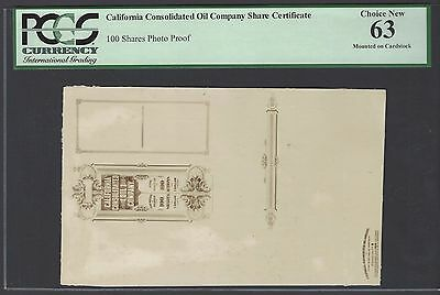 United State , California Consolidated Oil Company Photographic Proof AUNC