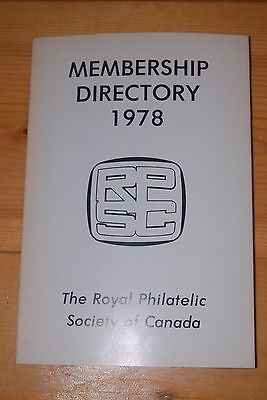 Weeda Literature: RPSC 1978 Membership Directory book, CAPEX edition