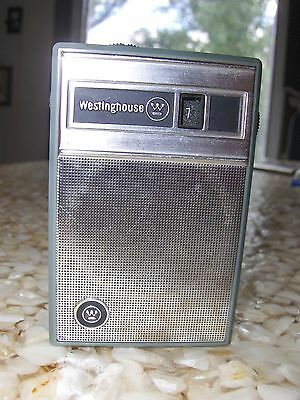 Vintage Westinghouse Clean Six 6 Transistor Radio w / Case JAPAN  Works