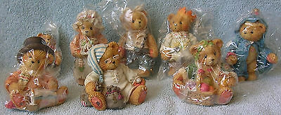 Cherished Teddies DICKENS VILLAGE 8 Pieces-Jacob,3 Ghosts,Tiny Ted,Scrooge.. NIB