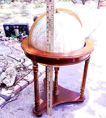 16 in  Vintage Cram's Imperial World Globe with Wood FLOOR Stand GERMANY DIVIDED