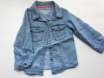 F~ Girls Genuine Kids Long Sleeve Top Size 2T Denim