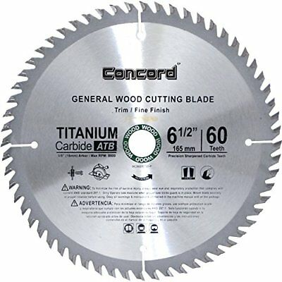 Concord Blades WCB0650T060HP 6-1/2-Inch 60 Teeth TCT General Purpose Hard and...