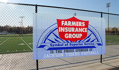 Mesh Banners -10oz. Heavy-Duty Banner Material --Custom Print-Size 24''x36''