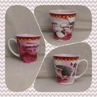 """Diddl Mug Tasse """"Je suis toujours là pour toi"""" Wollywell TBE comme neuve"""
