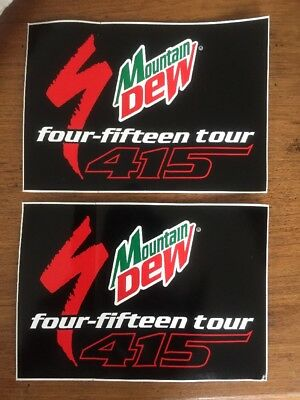 "Two (2) Vintage Specialized Mountain Dew ""415 Tour"" FOUR FIFTEEN TOUR Stickers"