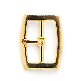 Curved Buckle: 22mm: Gold