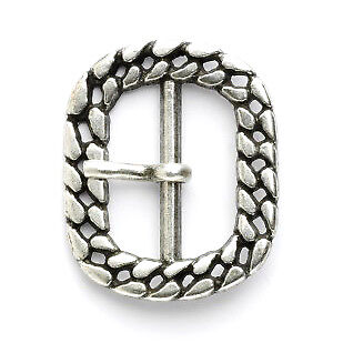 Cord Buckle: 25mm: Silver