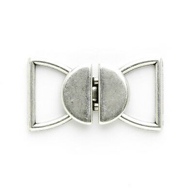 Link Clasp: 18mm: Silver