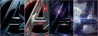 Avengers End Game Infinity War Assemble Age of Ultron Set 4 Teaser Posters 27×40