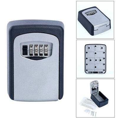 YaeKoo Wall Mount Key Box & 4-Digit Combination Home Security Lock Safe Storage
