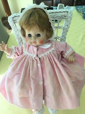 "Vintage Horsman 13"" Cloth Body Doll 67S141 In Original Outfit."