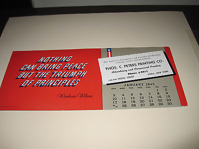 Old Advertising Ink Blotter Thomas C. Peters Printing Co. Utica Ny 1943