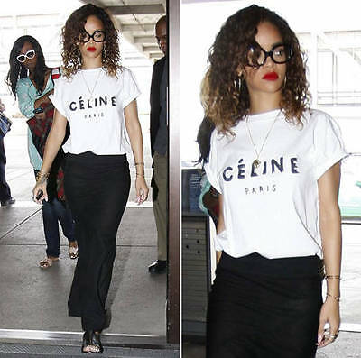 Celine Paris T Shirt Top Womens Celebrity Fashion Tumblr Brand New Gift