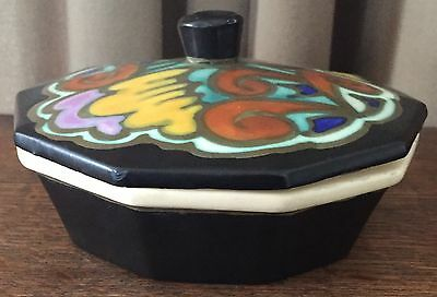 "Vintage Belgium Pottery, Flamand, Covered Dish Bowl, 6"" Wide, 3"" Tall,10-Sided"