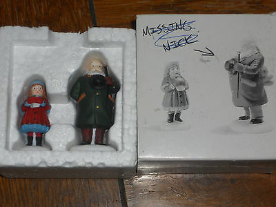 Dept 56 Heritage Village Collection Yes, Virginia Hand Painted Set of 2 #58890