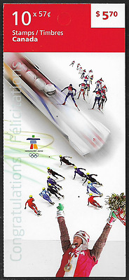 Canada Stamps - Booklet of 10 - Celebration of the Olympic Spirit #2375a (BK425)