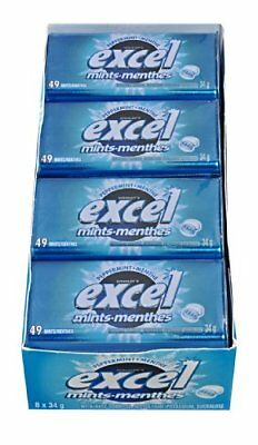 Excel Mints Peppermint 34gm Tin 8 Count