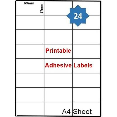 96Sticker A4 Sheet For Glass Paper Envelope Printable Adhesive Label Strong Grip