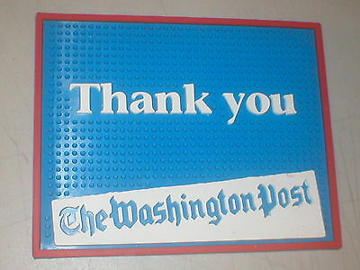 Washington Post Counter Top Point Of Sale Rubber Pad Bar Mat