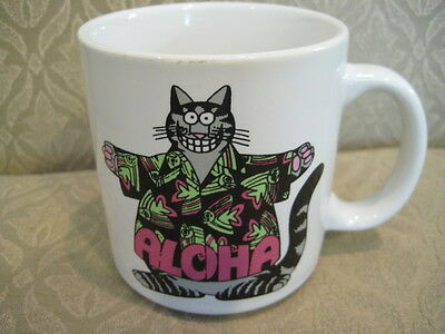 Vintage Kliban Cat Aloha Hawaiian Hawaii Shirt Cup Mug
