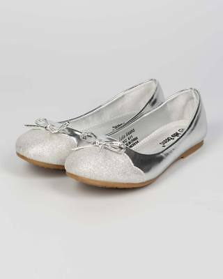 19e3ae597c95 New Girl Jelly Beans Ciro Metallic Leatherette Capped Toe Bow Tie Ballerina  Flat