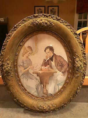 Antique Oval Picture Frame From 1800's