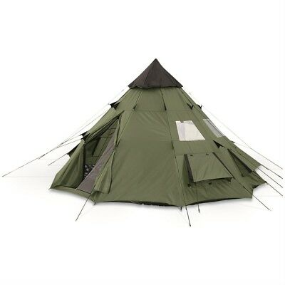 Outdoor Teepee Tent Camping Weatherproof Mesh Window Hiking 6 Person 10x10 New
