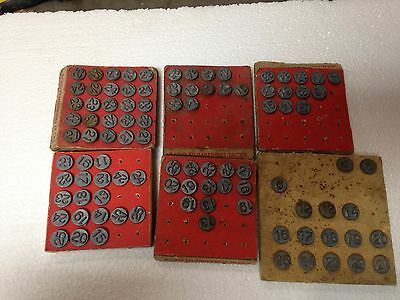 Vintage 1948 Window Markers Hold-Tite Numbering Tacks by Acro 6 Cards 97 Tacks