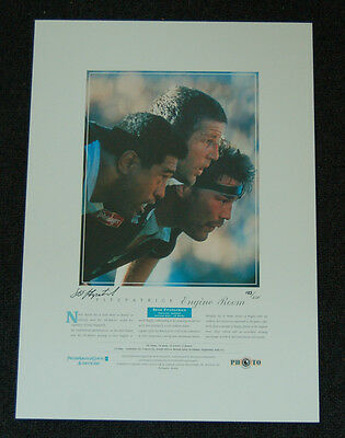 Sean Fitzpatrick New Zealand All Blacks Hand Signed Engine Room Official Print