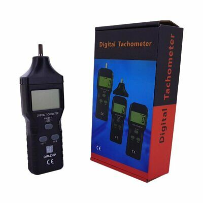 Contact/ Non-Contact Handheld Tachometer RPM Meter - Laser and contact wheel