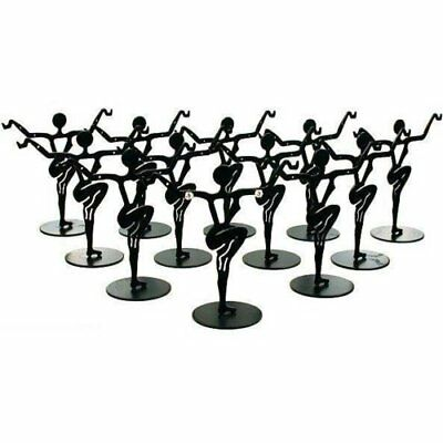 12 Black Metal Earring Dancer Jewelry Showcase Display Stands 3.25""