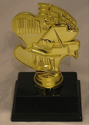 Piano Music Notes Figurine Trophy 130mm Engraved FREE