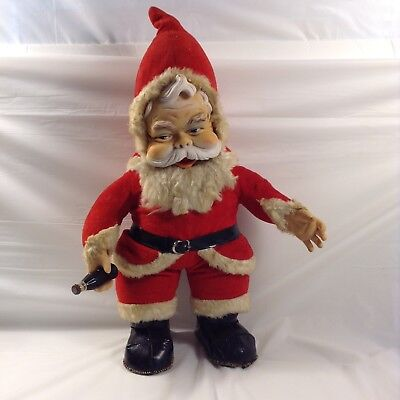 17 Inch Rushton Coca-Cola Wired Santa Claus With Black Vinyl Boots