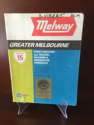 Melway street directory - Melbourne 1982 - Edition 15