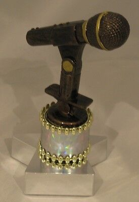 Microphone Figurine Trophy 160mm Engraved FREE
