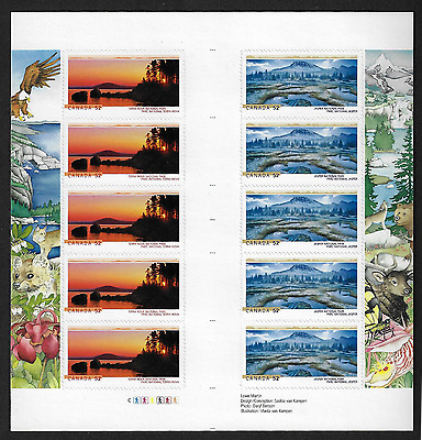 Canada Stamps - Gutter Pane of 10 - National Parks #2224b (2223a & 2224a) - MNH