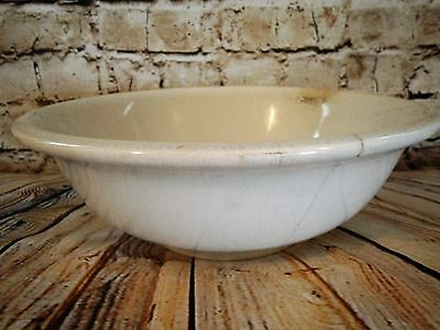 ~Lovely Large 1800S Antique Ironstone Bishop Powell Bowl Basin! Cottage Chic