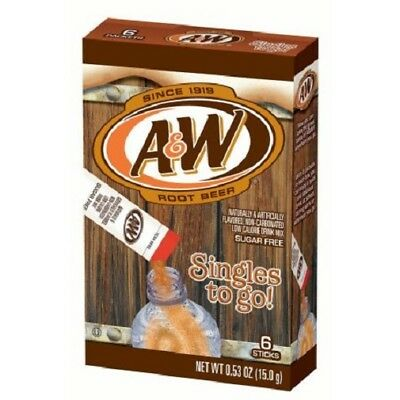A&W Root Beer Singles to Go Sugar Free Drink Mix
